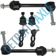6pc Kit: New 2 Front Stabilizer Bars + 2 Upper Ball Joints + 2 Lower Ball Joints