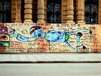 ART PRINT POSTER PHOTO GRAFFITI MURAL STREET BE FREE PAINT KID NOFL0151