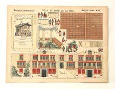 Pellerin Imagerie D'Epinal- 1277 Villa Au Bord de la Mer P. vintage paper model