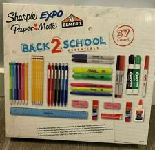 NIB SCHOOL/OFFICE SUPPLIES 37 ITEMS MARKERS, HIGHLIGHTERS, PENS, PENCILS & MORE