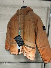 Stone Island Junior Hooded Liquid Reflective Down Jacket In Rust