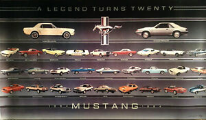 Ford Mustang 1964-1974 A Legend Turns Twenty Factory Car Poster