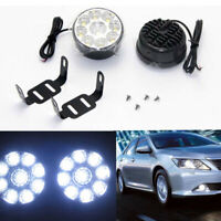 9 LED Round Car DRL Driving Daytime Running Lights Fog Day Lamp Off Road SUV ATV