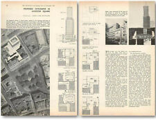 1958 Proposed Skyscraper In Leicester Square Design, Plans
