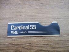 ABU CARDINAL 55 SIDE PLATE BADGE STICKER DECAL