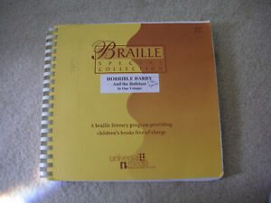 """""""Horrible Harry and the Holidaze"""" Braille only book"""