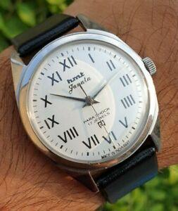 HMT Janata Roman Figure Hand Winding 17 Jewels Para Shock Mens Watch
