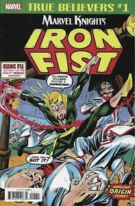 Iron Fist #1 MARVEL COMICS Classic Reprint True Believers 2018