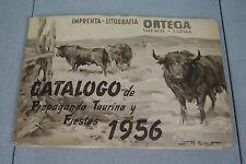 Catalogo de Propaganda Taurina y Fiestas 1956, Ortega Lithograph Bullfighting