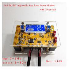 10A DC-DC Adjustable CC CV Step-down Power Supply Module LCD Dual Display + Case