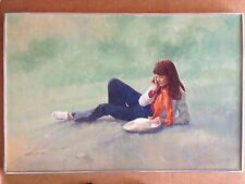 oil painting original maryann day dreamer #1 signed by stuart kaufman 1926-2008
