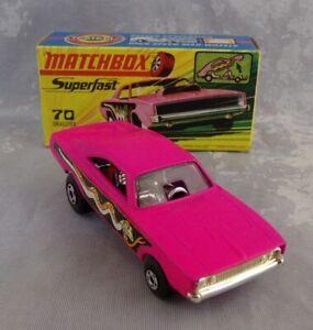 Matchbox Superfast No. 70 Dodge Dragster in Original Box PURPLE BASE