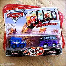 Disney PIXAR Cars MINI ADVENTURES Race Rods SARGE & FILLMORE 2-Pack Hot Flames
