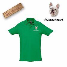 Camiseta De Algodón Polo Perro Bordado Bulldog Francés 3 + Nombre