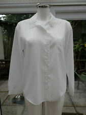 LADIES SHIRT BY DEBENHAMS SIZE 14 LACE ON COLLAR ENDS  & POCKET, LONG SLEEVES