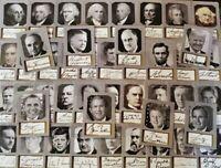 Complete 2020 US Presidents ACEO Portrait D.Gordon Replica Autograph Card Set