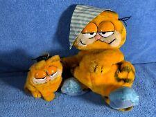 1981 Bedtime Garfield and Small Graduate Garfield