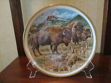 """""""Sale"""" Lenox """"American Wildlife Buffalo Collector Plate - 1992"""" by Norman Adams"""