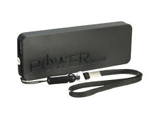 Black 5600mAh Slim Portable USB Power Bank Battery Charger for iPhone Samsung