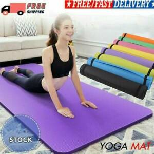 Non-Slip Big/Small Extra Thick Yoga Mat Exercise Pilates Gym Picnic Pad + Strap.