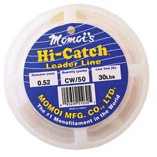 Momoi Hi-Catch Nylon Monofilament Leader-100 Yds, 150 Lb., Clear White