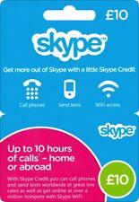 Skype credit voucher code top up by£ 10