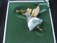 Swarovski Crystal Christmas 1997 Angel Playing Trumpet Ornament Mint in Box