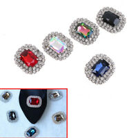 1PC women crystal rhinestone metal shoes clips bridal shoe charms decor SK