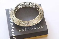 "Silpada Sterling Silver ""Stiletto"" Cutout Bangle Bracelet B2830 $229"