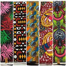 1 YARD Ankara African Print Fabric-Ideal For Face Mask/Head Wrap -100% Cotton