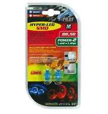 Lampada Hyper-Led 2 12V 1 SMD x 2 chips B8,5d 2PZ D/Blister Blu COD.58469