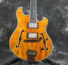 Korean Factory Starshine Languedoc Electric Guitar Spalted Top&Back Ebony Honey