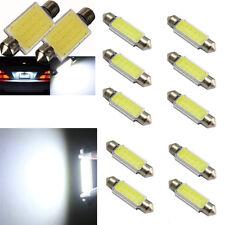 10Pcs COB 12SMD 42mm White Lights Bulb for Dome & Interior Decor & License Lamps