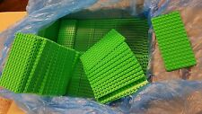 Genuine LEGO Base Plate 8x16 MiniFigure - LOT of 500 - BRIGHT GREEN Thin - NEW