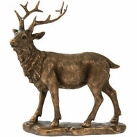 Reflections Bronze Stag Leonardo Collection Ornament Figure Home Deco Gift