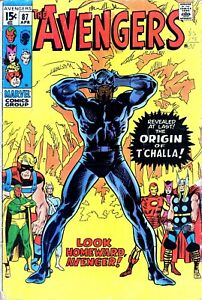 Avengers # 87 Vol. 1 Origin of the Black Panther T'Challa Original Owner