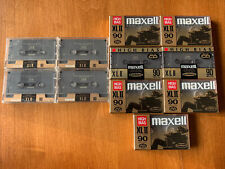 Maxell XLII High Bias 90 Minute Cassette Tape Lot (11) New