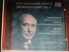 WEINGARTNER Mendelssohn 3 Brahms 4 IRON NEEDLE