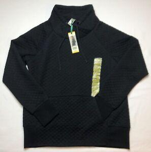 NWT Green Tea Women's Quilt Pullover Sweatshirt Top, Medium-Black