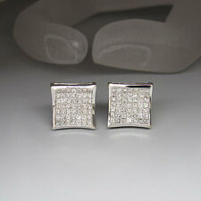 Ohrstecker Ohrringe mit ca. 2,94ct Prinzess Diamant TW-VVS  in 18K Weißgold