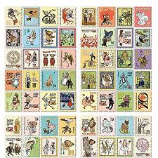 80x Stickers Vintage Sello Literatura Pegatinas para Notebook Cuaderno 4367b