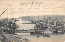BR64197 birds eye view of newhaven harbour ship bateaux uk