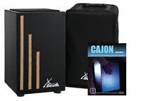 Profi Cajon Trommelkiste Percussion Trommel Natur Instrument Gigbag Drum Tasche