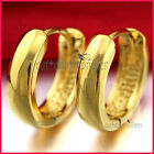 24K PLAIN YELLOW GOLD FILLED SOLID MENS WOMENS KIDS SMALL HOOP SLEEPER EARRINGS