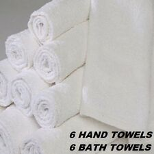 6 NEW 20X40 BATH TOWELS 6 NEW MATCHING HAND TOWELS MATCHING SET HOTEL MOTEL ECON