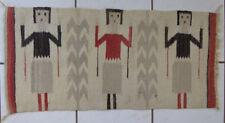 Native American Navajo Yei Throw Rug Old