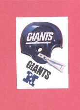 1983 Kellogg's NEW YORK GIANTS NFL Helmet Sticker Blank Back Version