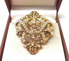 Vintage  baroque Style Faux Pearl Brooch Pin