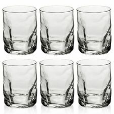 6 x 420ml Bormioli Rocco Whiskey Glasses Tumblers Water Juice Drinking Cups Set