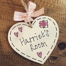 Personalised Name Plaque Door Nursery Bedroom Sign Gift Baby Girls Pink Room